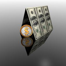 Free 100 Usa Dollars House Roof Royalty Free Stock Photography - 9665107