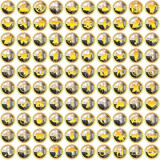 Free 100 Golden Silver Bright Icons Royalty Free Stock Images - 9665109