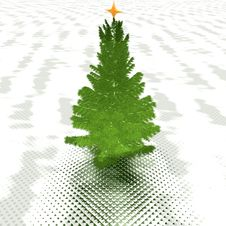 Free Christmas Tree Ready To Decorate Stock Photography - 9665142