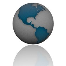 3d Earth With Color Texture Royalty Free Stock Photography