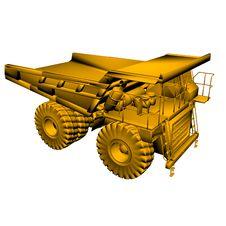 Golden Heavy Truck Model Royalty Free Stock Photo