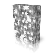 Free Blank Puzzle Box Template Royalty Free Stock Photos - 9665218