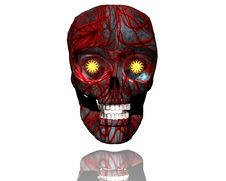 Free 3D Big Realistic Skull Royalty Free Stock Photography - 9665297