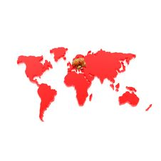 Free Golden Coins On World Map Isolated On A White Royalty Free Stock Photography - 9665357