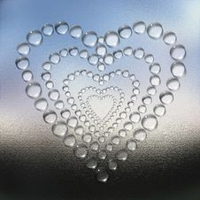 Free Abstract Heart Water Drops Background Stock Image - 9665411