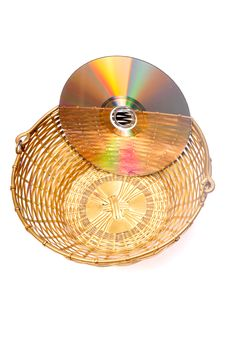 Free Compact Disk And Basket Stock Images - 9665424