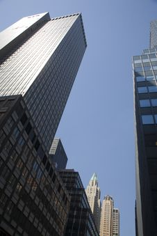 Free Skyscrapers Of Manhattan Royalty Free Stock Images - 9665879