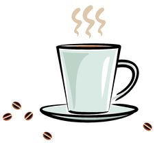 Free Cup Of Coffee (Vector) Royalty Free Stock Photos - 9666538