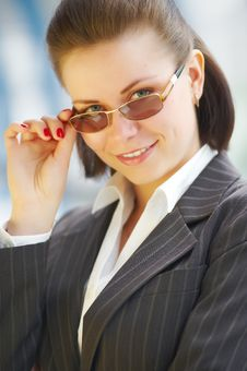 Free Modern Professional Businesswoman With Glasses Stock Photography - 9667462