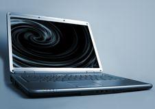 Free Futuristic Laptop Royalty Free Stock Photo - 9667475