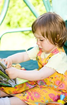 Free Baby In Garden Stock Photography - 9667992