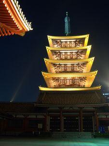 Free Five Storied Pagoda Stock Image - 9668071