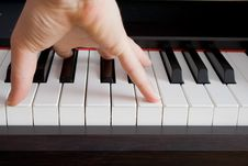 Free Inspired Play On A Piano. Royalty Free Stock Photography - 9668257