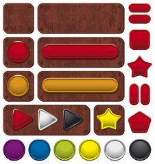 Free Buttons On Rusty Background Royalty Free Stock Photos - 9668368