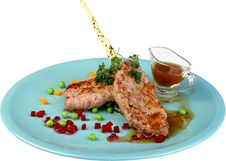 Free Veal Medallions With Zucchini And Cherry Tomato Stock Images - 9668594