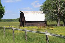 Rusitic Barn In Rural Tennessee Stock Photography