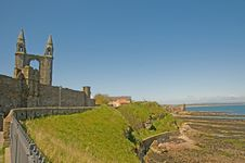 Free Old Cathedral Castle And The Coast Stock Photos - 9669153