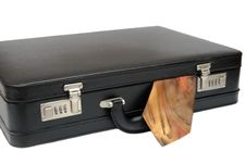 Free Black Suitcase With Tie Royalty Free Stock Photography - 9669317