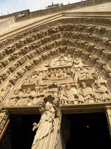 Notre Dame De Paris, Detail Royalty Free Stock Photos