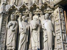 Notre Dame De Paris, Detail Stock Images