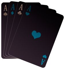 Negative Poker Of Aces Royalty Free Stock Image