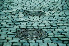 Free Cobblestone, Road Surface, Pattern, Manhole Royalty Free Stock Photo - 96660945