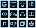 Free Media - Vector Icons Set Royalty Free Stock Photo - 9678375