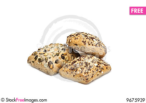 Free Healthy Bread With Seeds On Royalty Free Stock Images - 9675939