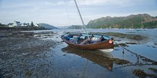 Free Sailing Boat At Plockton. Stock Photography - 9670102