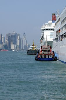 Free Hong Kong City Harbour Stock Photo - 9670220