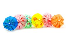 Free Colorful Straw Parasol Stock Images - 9670264