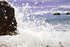Blue Sea  Wave Royalty Free Stock Image