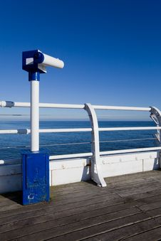 Seaside Telescope Stock Photo