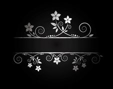 Free Silver Floral Frame Royalty Free Stock Images - 9671909