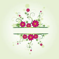 Free Floral Frame Stock Photo - 9671950