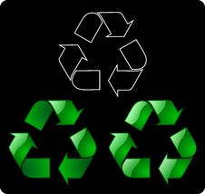 Recycling Symbol Stock Photo