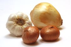 Free Onion, Garlic And Shallots Royalty Free Stock Photography - 9672877