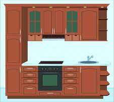 Free Kitchen Furniture. Interiors. Stock Image - 9672931