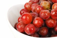 Free Red Grapes In The Bowl Closeup. Stock Images - 9673004