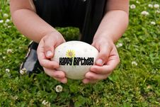Free Egg-citing Birthday Royalty Free Stock Photo - 9673545