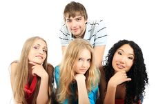 Free Group Of Young People Stock Photography - 9673752