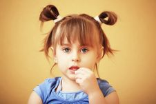 Free Little Girl Royalty Free Stock Photography - 9673767