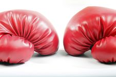 Free Red Boxing Gloves Royalty Free Stock Photography - 9673937