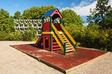 Slide On Child Playground Stock Images