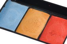 Free Grease-paint Box Closeup Royalty Free Stock Photo - 9675905