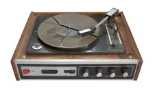 Free Old Record-player Isolated On White Background Stock Photography - 9677332
