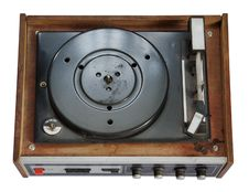 Free Old Record-player Isolated On White Background Stock Photo - 9677350