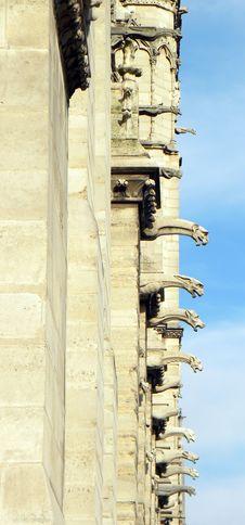 Notre Dame De Paris, Detail Stock Photography