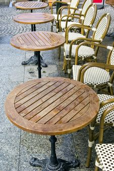 Free Rain And Cafe Tables Royalty Free Stock Photo - 9677805