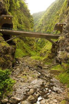 Free Bridge Through Mountain Stock Photography - 9678172